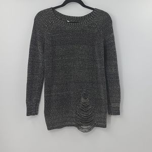 Bcbgeneration gray distressed sweater. Size small